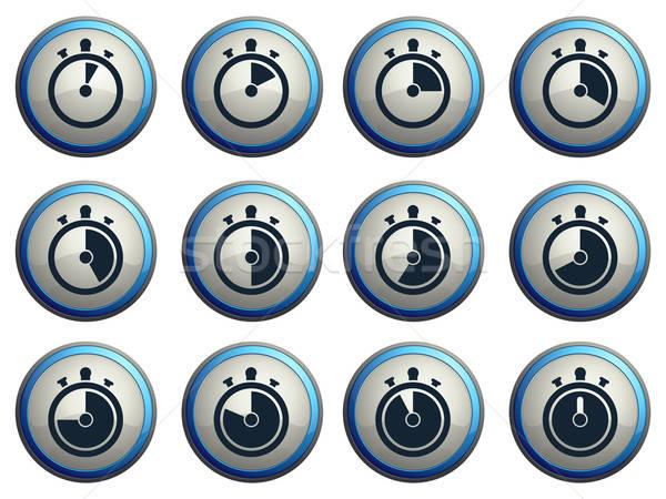 Temporizador vector iconos web usuario Foto stock © ayaxmr