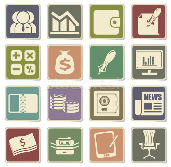 Business simple icons Stock photo © ayaxmr