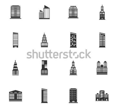Binalar simge web simgeleri kullanıcı arayüz Stok fotoğraf © ayaxmr