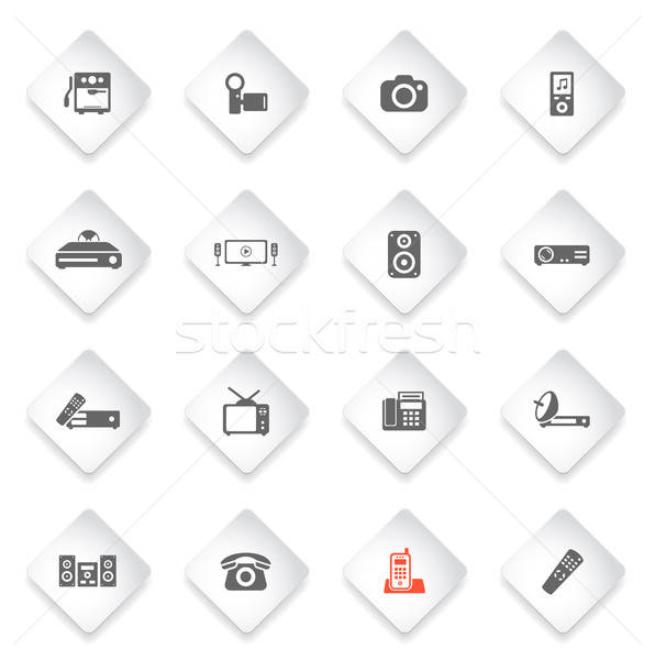 Home applicances simply icons Stock photo © ayaxmr