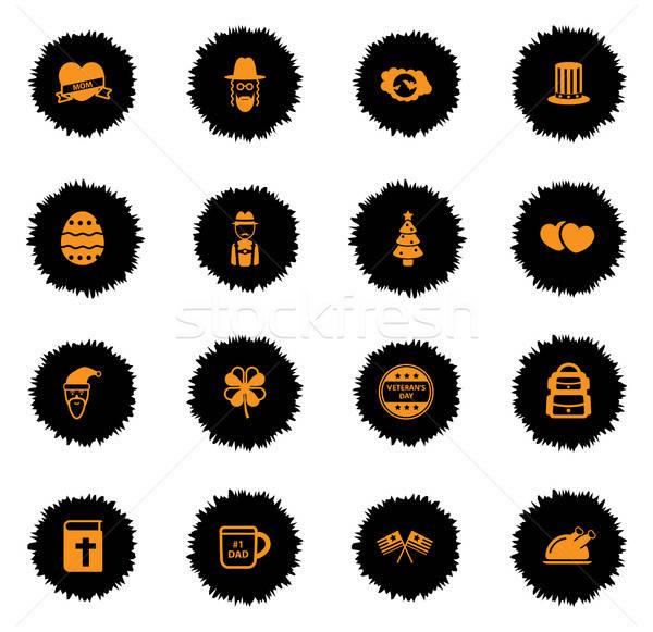 Holidays simply icons Stock photo © ayaxmr