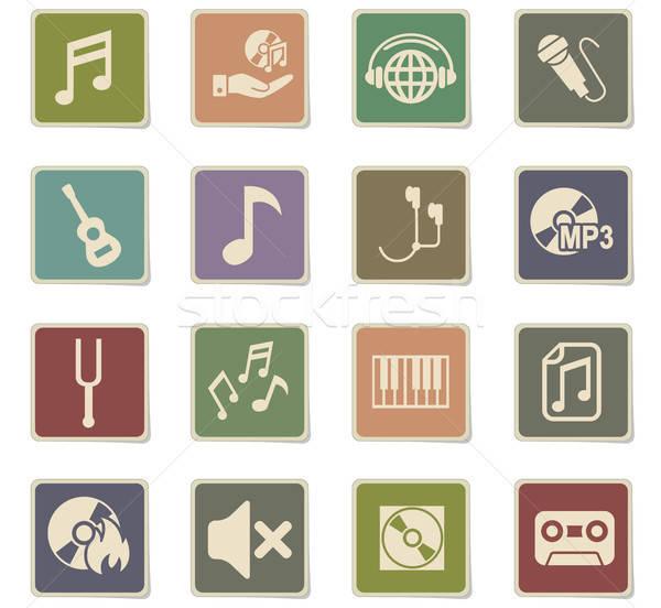 Muziek web icons gebruiker interface ontwerp Stockfoto © ayaxmr
