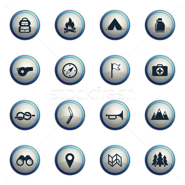 Boy scout simply icons Stock photo © ayaxmr
