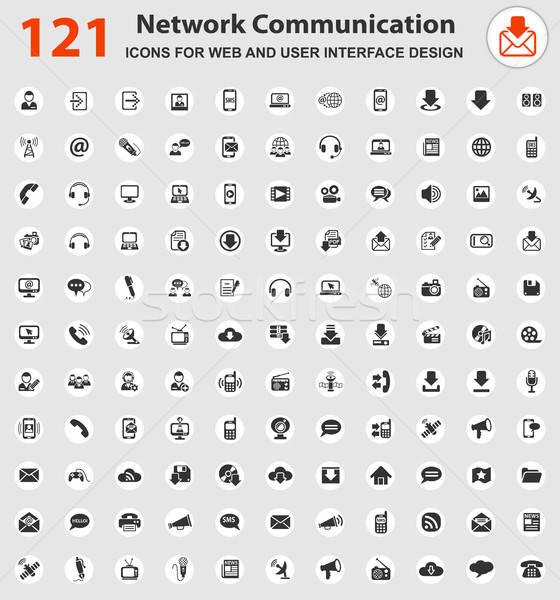 Comunicación iconos de la web usuario interfaz diseno Foto stock © ayaxmr