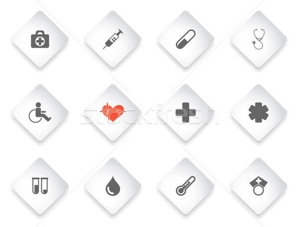 Médicaux simplement icônes symbole icônes web utilisateur Photo stock © ayaxmr