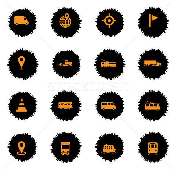 навигация просто иконки вектора веб пользователь Сток-фото © ayaxmr