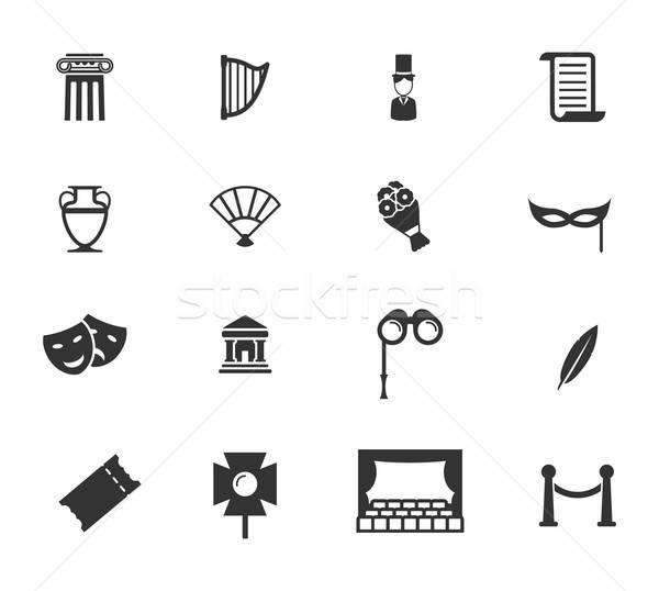 Stock photo: Theatre simply icons