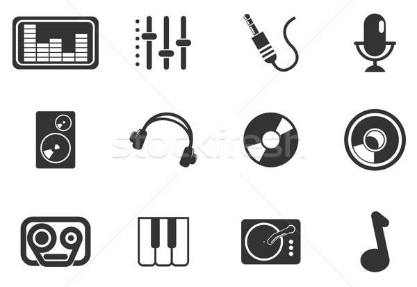 オーディオ 音楽 単純な ベクトル アイコン 単に ストックフォト © ayaxmr