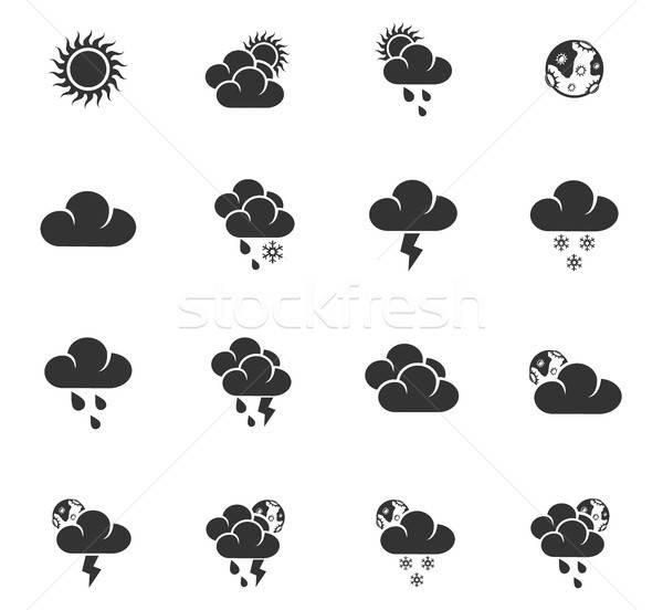Tempo os ícones do web usuário interface projeto Foto stock © ayaxmr