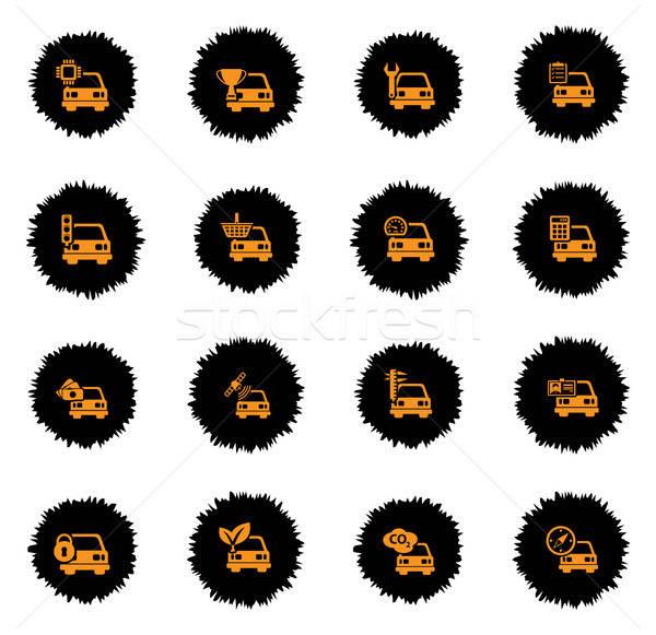 Autó szolgáltatás egyszerűen ikonok vektor háló Stock fotó © ayaxmr
