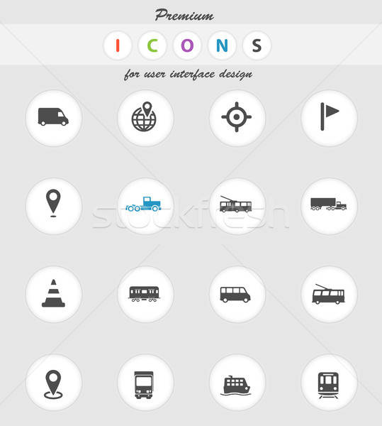 Navegación simplemente iconos vector web usuario Foto stock © ayaxmr