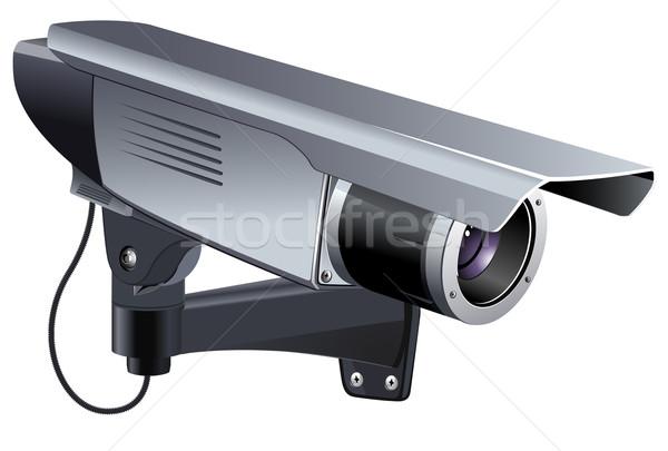 Cctv caméra vidéo observation eps 10 Photo stock © ayaxmr