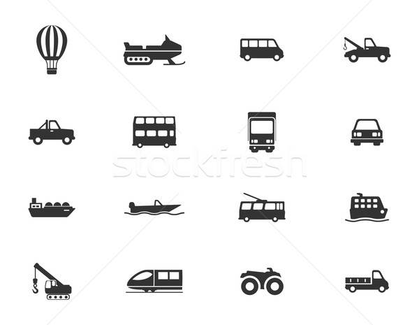 Transportation simply icons Stock photo © ayaxmr