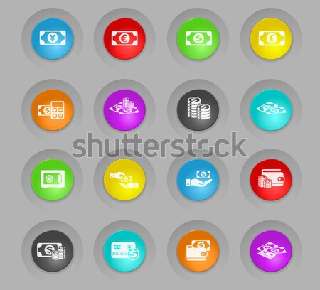 Car service icons set Stock photo © ayaxmr