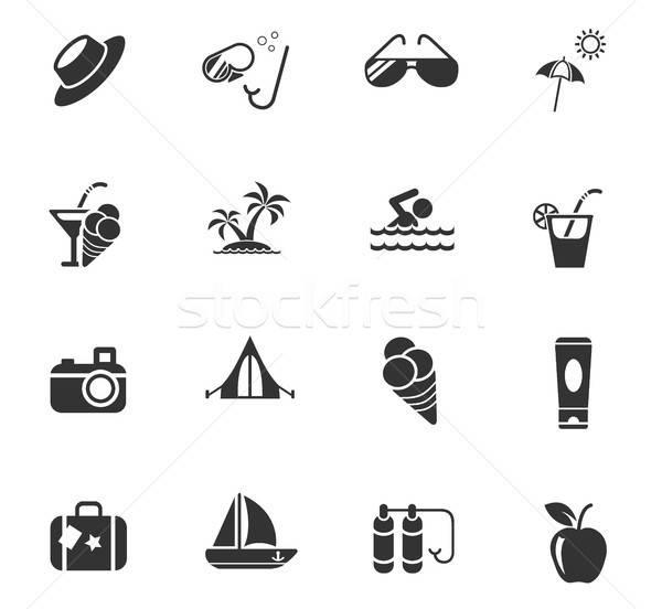 Verano iconos de la web usuario interfaz diseno Foto stock © ayaxmr
