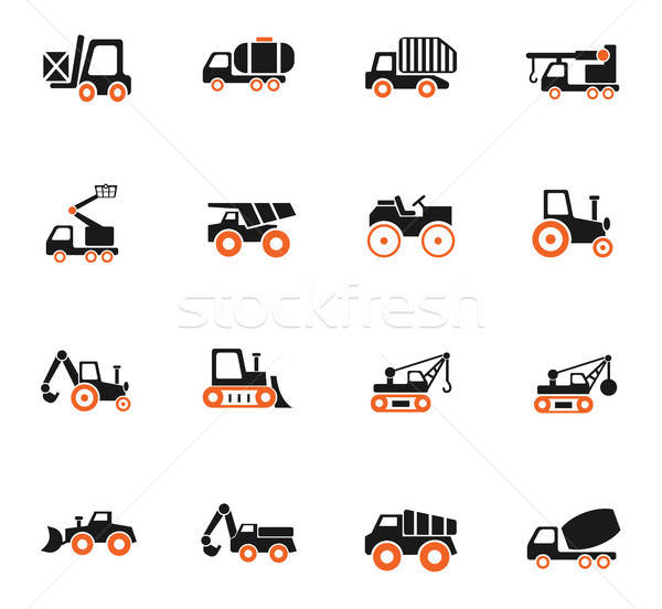industrial transport icon set Stock photo © ayaxmr