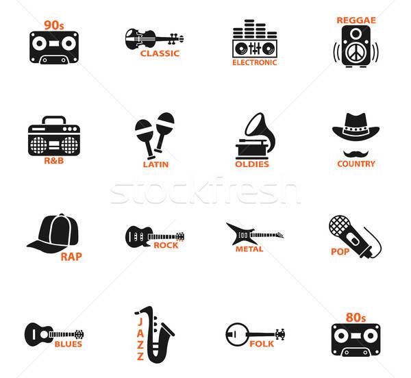 Musical web ikony użytkownik interfejs projektu muzyki Zdjęcia stock © ayaxmr