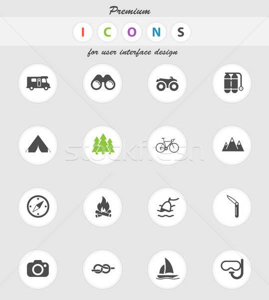 Active recreation icon set Stock photo © ayaxmr