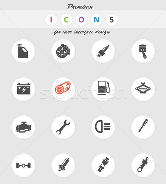 Automático serviço ícones cor ícone teia Foto stock © ayaxmr