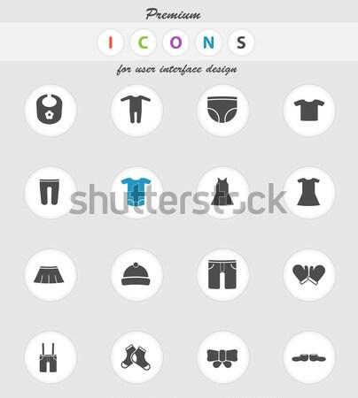Kleding eenvoudig iconen vector web gebruiker Stockfoto © ayaxmr