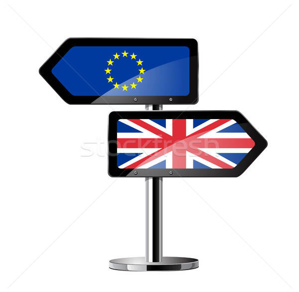 Brits referendum teken symbool business Stockfoto © ayaxmr