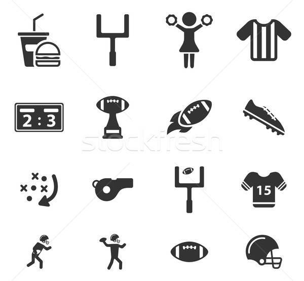 American football simply icons Stock photo © ayaxmr