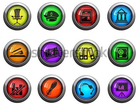 Wapen glanzend iconen website gebruiker Stockfoto © ayaxmr