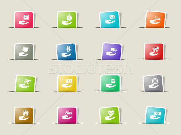 Insurance simply icons Stock photo © ayaxmr