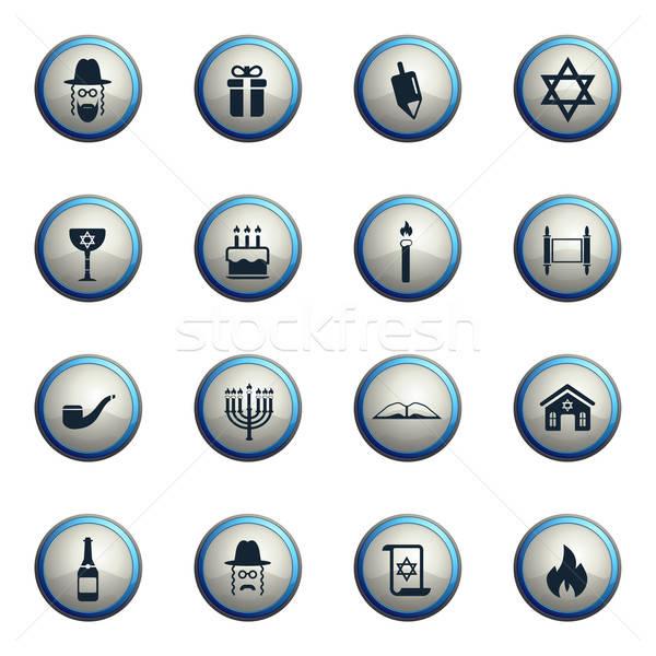 Hanukkah simply icons Stock photo © ayaxmr