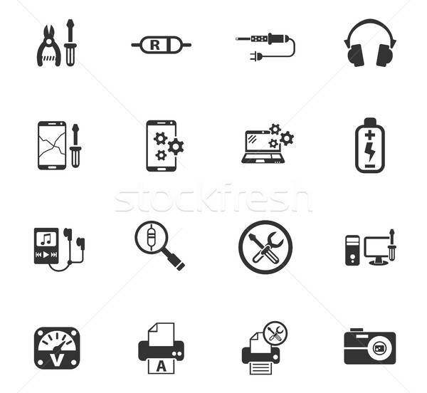 Elektronica reparatie web icons gebruiker interface Stockfoto © ayaxmr