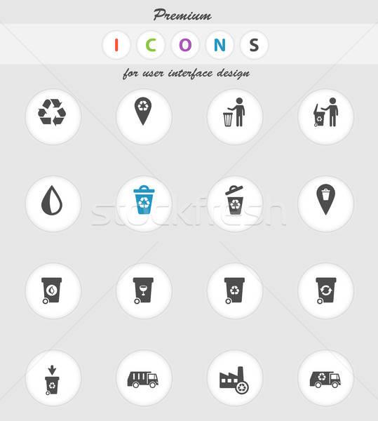 мусора просто иконки веб пользователь Сток-фото © ayaxmr