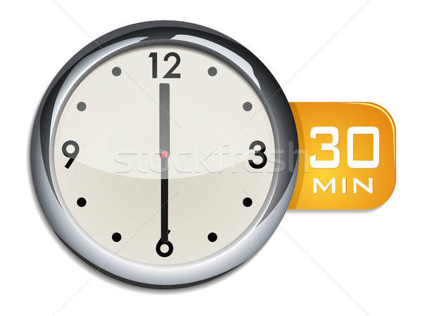 office wall clock timer 30 minutes Stock photo © ayaxmr