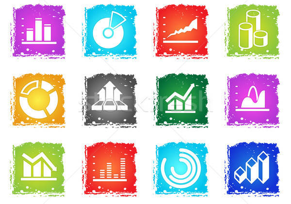 Diagram and infographic icons Stock photo © ayaxmr