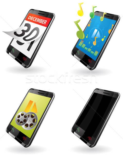 мобильного телефона иллюстрация поколение 3g КПК Сток-фото © ayaxmr