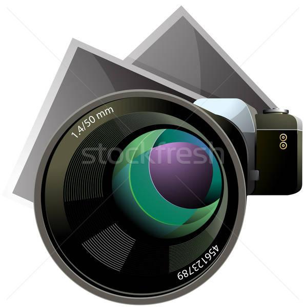 Wektora kamery zdjęć xxl icon odizolowany biały Zdjęcia stock © ayaxmr