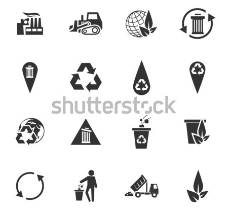 Garbage Icons set Stock photo © ayaxmr