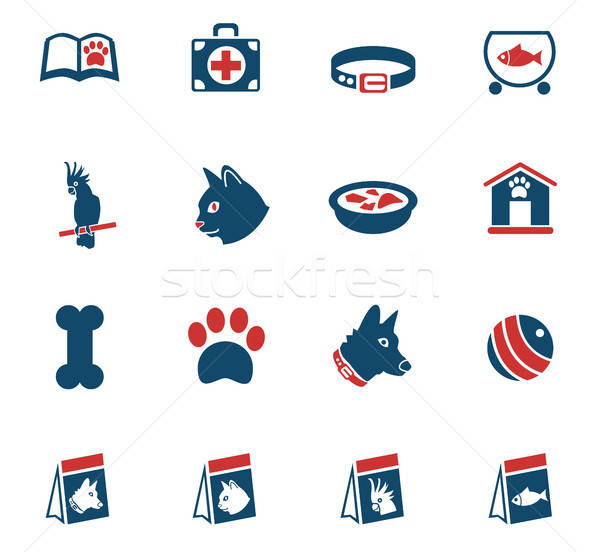 goods for pets icon set Stock photo © ayaxmr