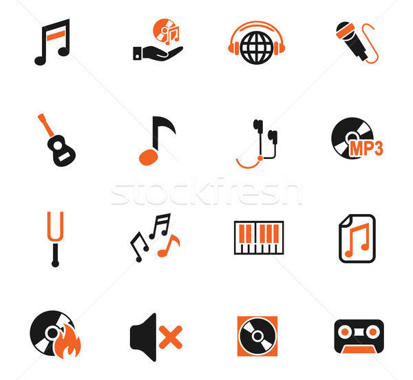 Muzyki web ikony użytkownik interfejs projektu Zdjęcia stock © ayaxmr