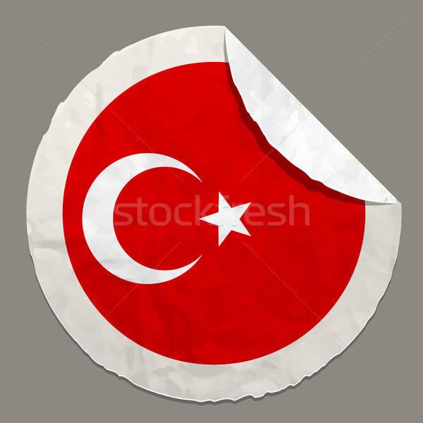 Zászló címke helyes szín terv piros Stock fotó © ayaxmr