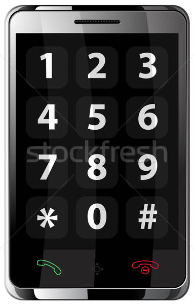 Teléfono móvil aislado blanco ordenador teléfono azul Foto stock © ayaxmr