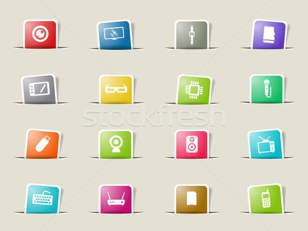 просто иконки веб пользователь Сток-фото © ayaxmr