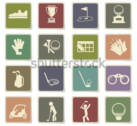 Foto stock: Golfe · simplesmente · ícones · teia · usuário