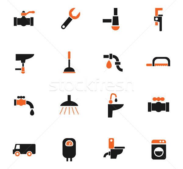 Encanamento serviço os ícones do web usuário interface Foto stock © ayaxmr