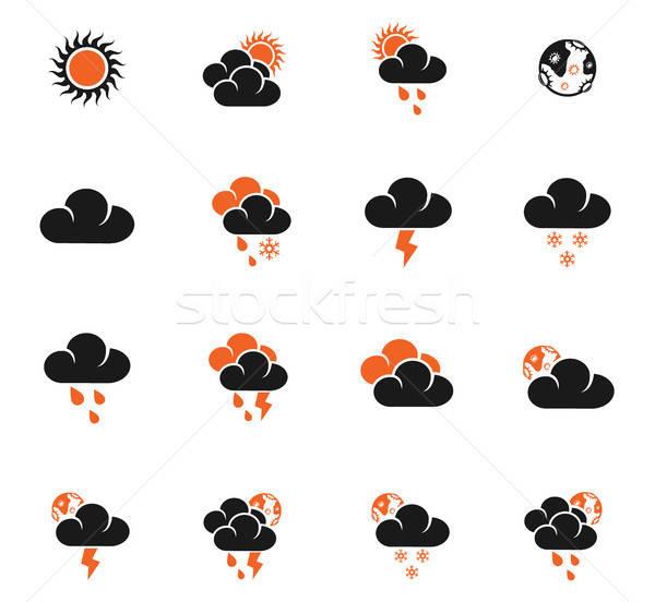 weather icon set Stock photo © ayaxmr