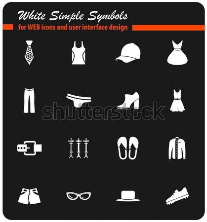 Ropa simplemente iconos web usuario Foto stock © ayaxmr