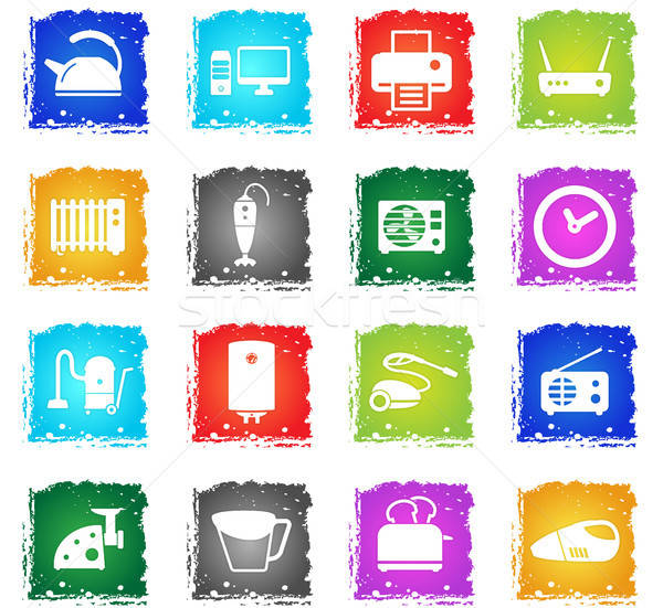 Stock photo: Home applicances simply icons