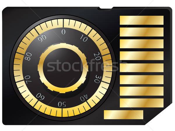 Emlék kártya kód zár eps 10 Stock fotó © ayaxmr
