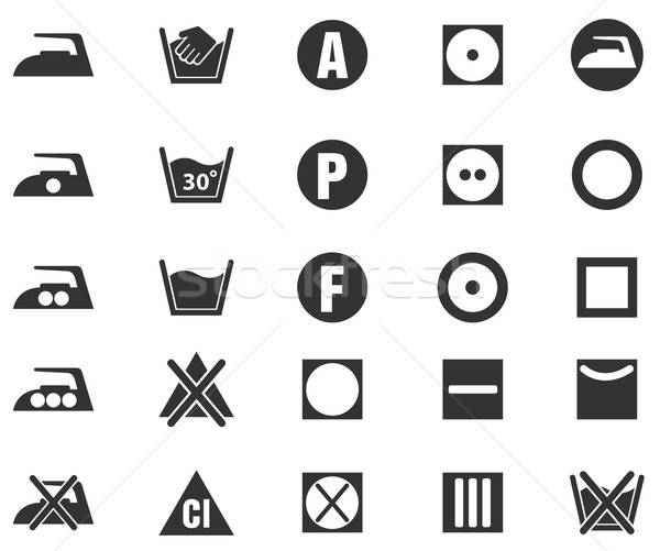 Laundry Sign Silhouette Icons Stock photo © ayaxmr