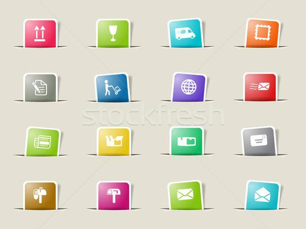Postar serviço simplesmente ícones teia Foto stock © ayaxmr