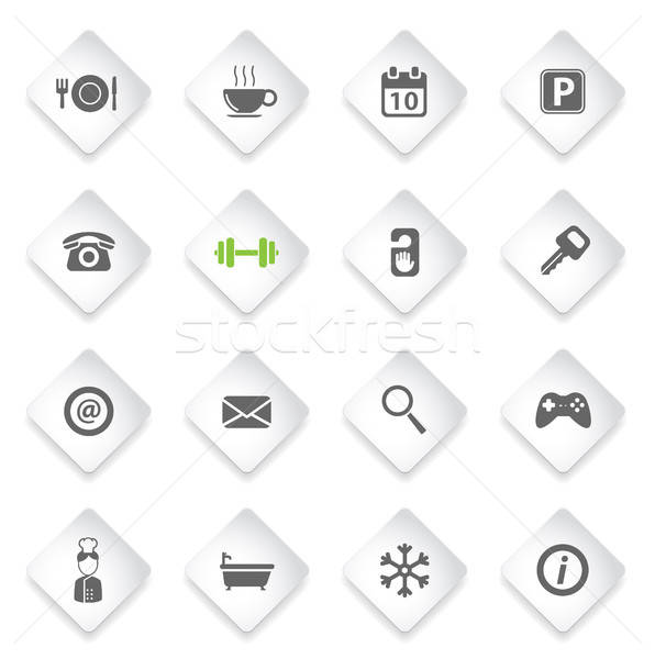 отель просто иконки символ веб-иконы пользователь Сток-фото © ayaxmr